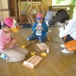 木工クラフト体験を行っています